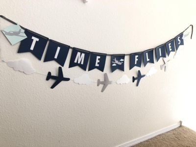 Hand made paper crafted birthday banners