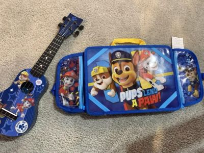 Paw patrol guitar and car lap activities table