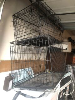 Large kennel and small kennel! In used condition!