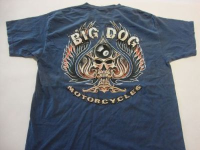 Sell BIG DOG MOTORCYCLES SPADE SKULL MEDIUM SHIRT DYED SHORT SLEEVE BDM CHOPPER K-9 motorcycle in Lyons, Kansas, United States, for US $19.99