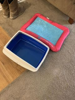 Cat bed and litter pan