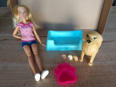 Barbie Newborn Pups Doll and Pets