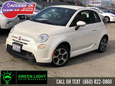 2016 Fiat 500e BATTERY ELECTRIC (Bianco Perla (Pearl White Tri-Coat))