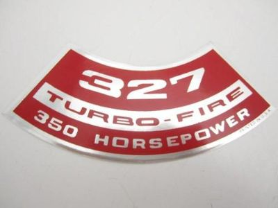 "Sell Corvette NEW Air Cleaner Decal ""327 Turbo-Fire 350 Horsepower"" 1966-1968 motorcycle in Livermore, California, US, for US $8.68"