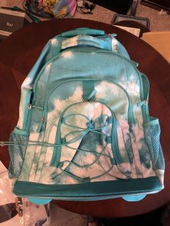 Pottery Barn rolling book bag