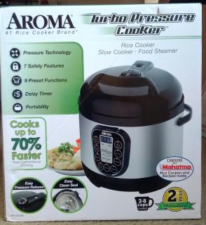 Aroma Turbo Pressure Cooker, Rice cooker, slow cooker, food steamer