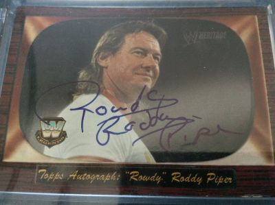 Cards: Autographed Rowdy Roddy Piper