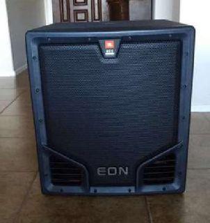 "JBL EON 518S 18"" Powered Subwoofer includes Transporter Bag w/Wheels"