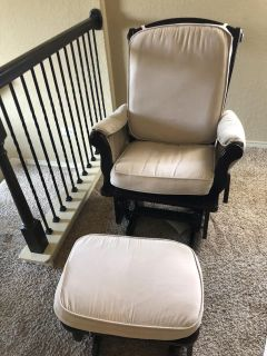 Carters rocking chair with ottoman