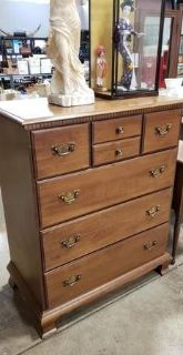 Solid Maple Highboy Dresser - Delivery Available