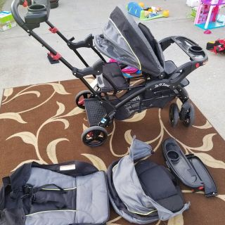 Double stroller/sit and stand stroller