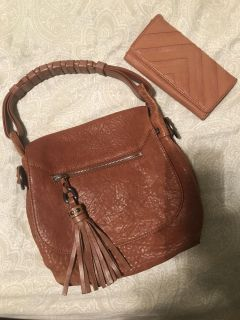 Fall color purse with wallet