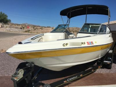 2005 Caravelle Deck Boat & 2004 Dual Axel Trailer