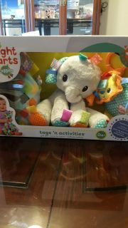 BNIB Bright Starts taggies, tags n activities for 0+months