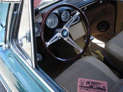 Flat 4 Wooden GT Steering Wheel Kit