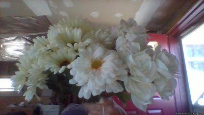 WHITE SILK ROSE BRIDAL BOUQUET