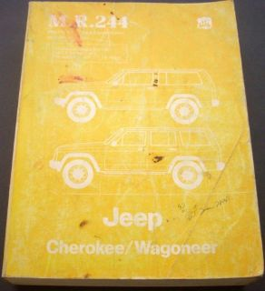 Sell 1986 Jeep Service Manual Book Dealer Repair Cherokee Wagoneer 86 Original 4W/D motorcycle in Holts Summit, Missouri, United States, for US $54.86