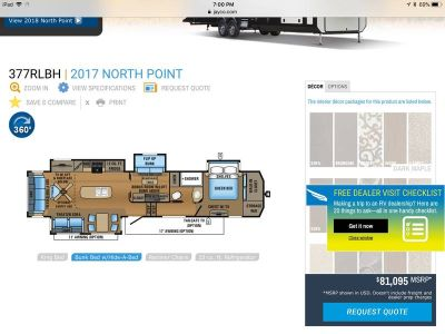 2017 Jayco North Point 377RLBH