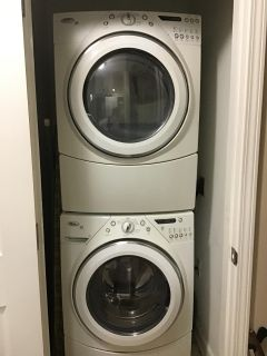 Whirlpool washer/dryer, stackable or side by side