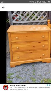 Real wood 3 drawer dresser sturdy and heavy excellent condition must pick up in Bedford I have 2 of them!!$ 50 each!