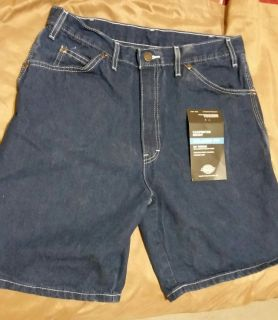 Brand New Men's Dickies Carpenter Jean Shorts Relaxed Fit Straight Leg size 33 waist