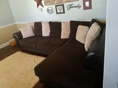leather base couch, like new