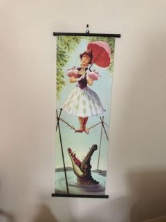 NWOT HAUNTED MANSION STRETCHING PORTRAIT POSTER