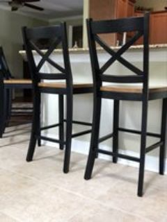 Solid Wood Bar Height Barstools (set of 4)