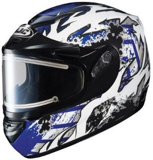 Purchase HJC CS-R2 XS Skarr Blue Electric Snowmobile Snow Sled CSR2 Helmet Extra-Small motorcycle in Ashton, Illinois, US, for US $170.99