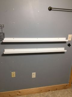 2 45 inches long IKEA picture frame shelves