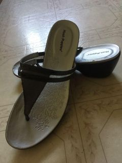 Size 7 Hush Puppies Wedge Sandals