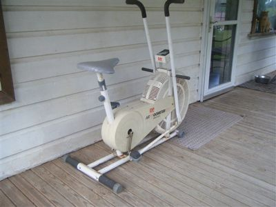 Exercycle, similar to a Schwinn Air Dyne.