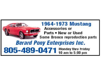 1964-1973 MUSTANG ACCESSORIES OR PARTS- NEW OR ...
