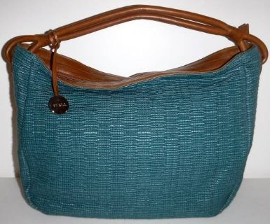 Furla Italy Teal Green Lg Shoulder / Tote Purse - Hobo Bag ~EUC