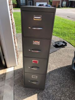 4 drawer grey filing cabinet
