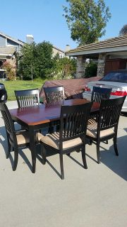 Dining room table set with extra leaf