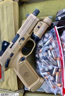 For Sale: FS/FT FNX-45 Tactical FDE w/ extras and ammo