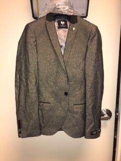 Grey Colored Gold Speckled Suit