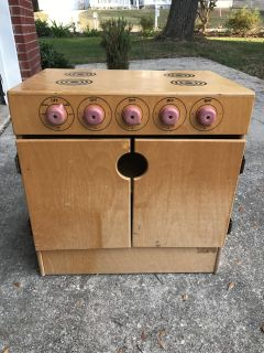 Childcraft wooden play stove oven kitchen piece