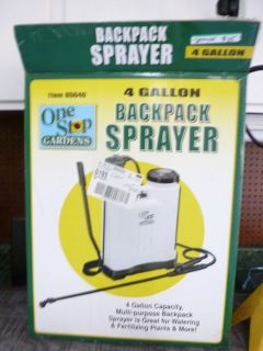 Backpack (fits on to your back) 4-GALLON PUMP UP SPRAYER, in box