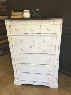Solid farmhouse chest of drawers