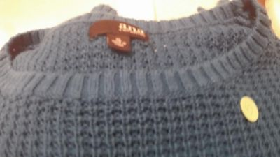 ANA /pullover sweater/bluegreen color
