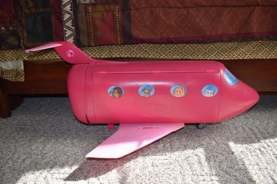 mattel Barbie Jumbo Jet Airplane Travel Foldable