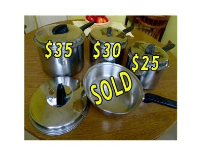 Vintage  FLINT EKCO Stainless Steel Cookware (1950's)