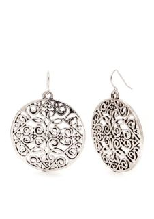 ***BRAND NEW***Round Large Filligree Drop Earrings***