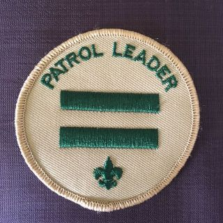 Boy Scouts of America 3 round position patch Patrol Leader