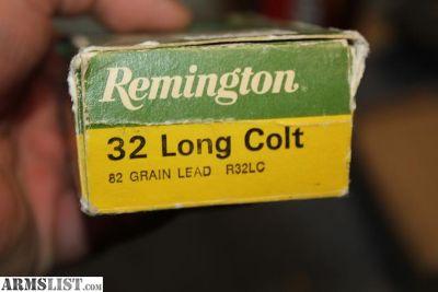 For Sale: RARE REMINGTON ORIGINAL .32LC .32 LONG COLT AMMUNITION 44 BULLETS