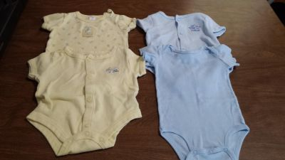 0 to 3 month onesies