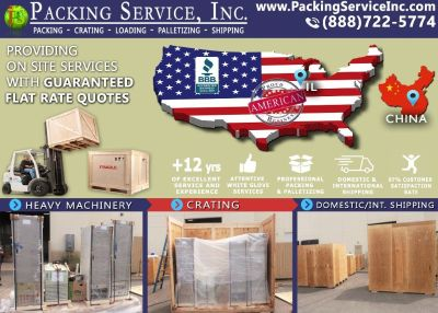 Packing Service, Inc. Evansville, IL - Industrial Packing, Nationwide Shipping, palletizing