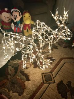 Set of two 31 inch reindeer